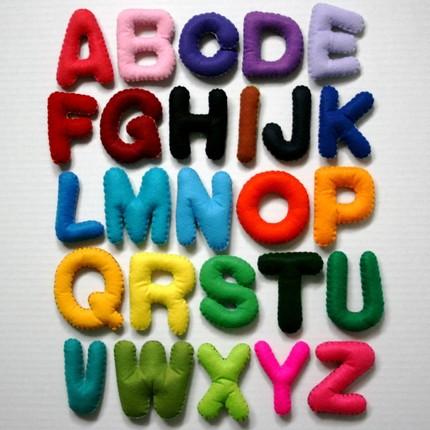Large multi color alphabet set