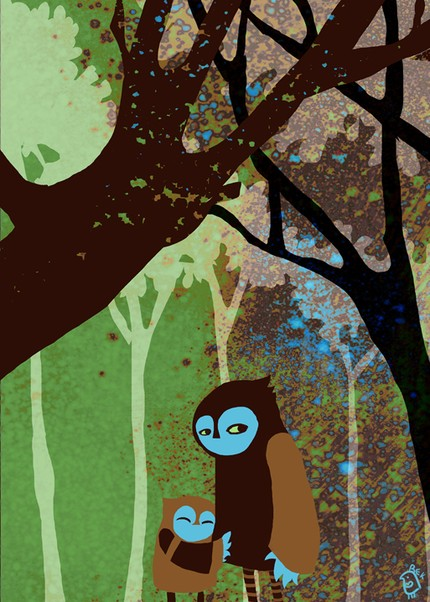 Owlie Woods Tryptich Three