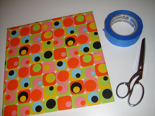 Fabric tape and scissor