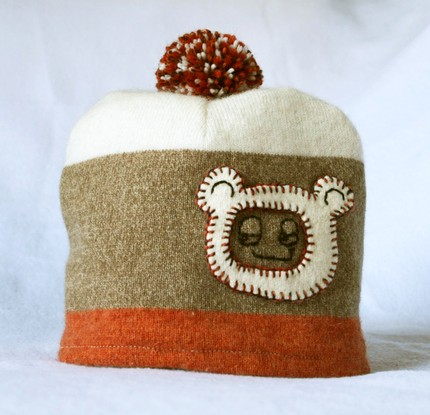 Cashmere silly bear hat