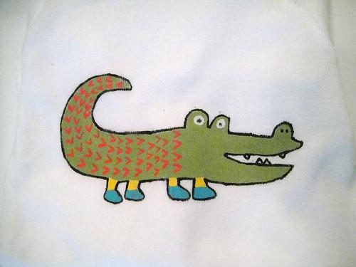 Gator onesie