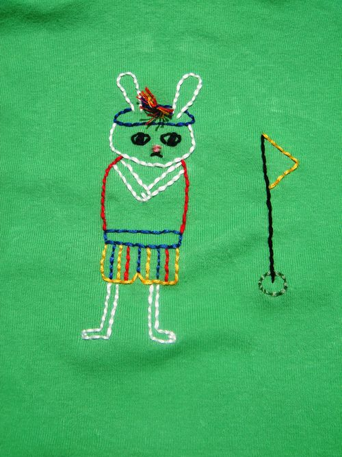 Finished golfer bunny